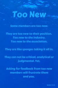 Don't Ask for Feedback from Members Who Are Too New