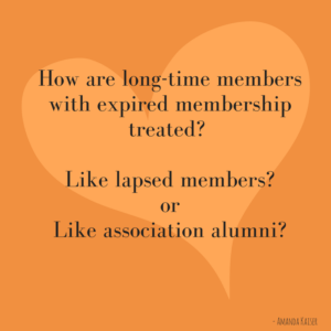 Are Associations Friendly Enough with Lapsed Members?