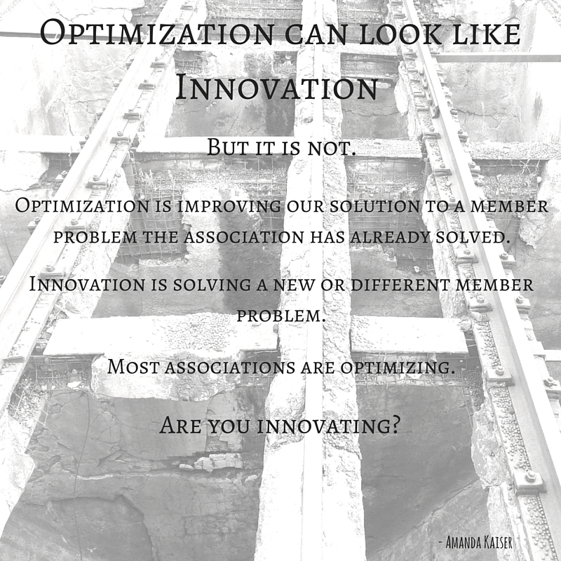 Optimization can Look Like Innovation