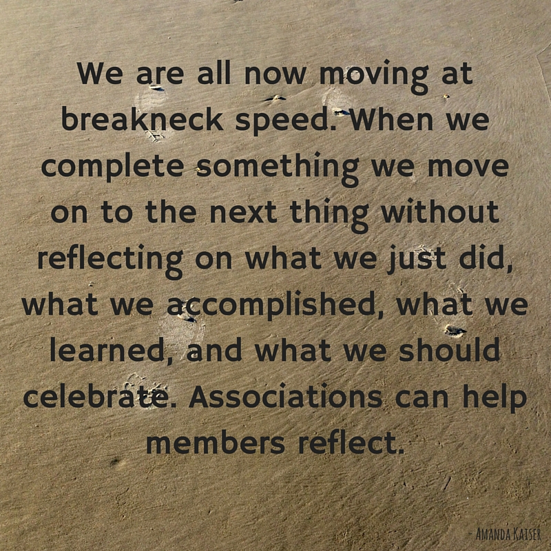Associations can help members reflect